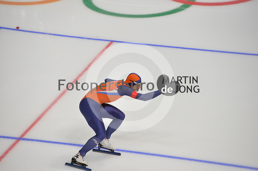 OLYMPIC GAMES: PYEONGCHANG: 19-02-2018, Gangneung Oval, Long Track, 500m Men, Kai Verbij (NED), ©photo Martin de Jong
