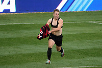 Chester, PA - Sunday December 10, 2017: Sam Werner  celebrates scoring. Stanford University defeated Indiana University 1-0 in double overtime during the NCAA 2017 Men's College Cup championship match at Talen Energy Stadium.