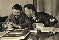 Joseph Stalin and Kliment Voroshilov, 1935