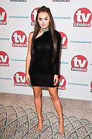 Amber Davies<br /> arriving for the TV Choice Awards 2017 at The Dorchester Hotel, London. <br /> <br /> <br /> ©Ash Knotek  D3303  04/09/2017