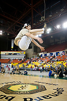 Two-foot high kick at the 2007 World Eskimo Indian Olympics, held in Anchorage, Alaska.