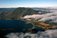 aerial photograph of Mount Konocti and Clear Lake, Lake County, California