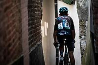 Tiesj Benoot (BEL/DSM) getting back to the teambus post-race<br /> <br /> 17thBenelux Tour 2021 (2.UWT)<br /> (Final) Stage 7: from Namur to Geraardsbergen (178km)<br /> <br /> ©kramon