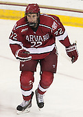 The visiting Harvard University Crimson defeated the Boston College Eagles 6-3 (EN) on Tuesday, November 11, 2014, at Kelley Rink in Conte Forum in Chestnut Hill, Massachusetts.