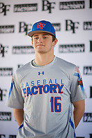 Connor Walsh (16) of Niceville High School in Niceville, Florida during the Baseball Factory All-America Pre-Season Tournament, powered by Under Armour, on January 12, 2018 at Sloan Park Complex in Mesa, Arizona.  (Zachary Lucy/Four Seam Images)