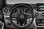 Car pictures of steering wheel view of a 2016 Mercedes Benz B-Class Inspiration 5 Door Mini MPV Steering Wheel