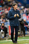 Manager Eduardo Berizzo of RC Celta de Vigo reacts during their La Liga match between Atletico de Madrid and RC Celta de Vigo at the Vicente Calderón Stadium on 12 February 2017 in Madrid, Spain. Photo by Diego Gonzalez Souto / Power Sport Images