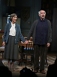 "Eileen Atkins and Jonathan Pryce during the Broadway Opening Night Curtain Call for the MTC  production of  ""The Height Of The Storm"" at Samuel J. Friedman Theatre on September 24, 2019 in New York City."