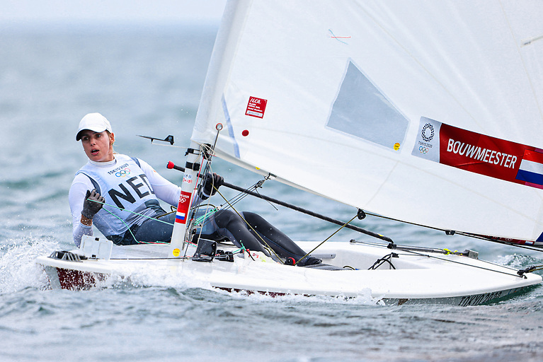 After a shaky start to her regatta yesterday, Rio Gold medallist Marit Bouwmeester (NED) is back up into fifth place