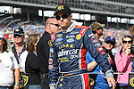 Sprint Cup Series driver David Ragan (34) in action before the NASCAR Sprint Cup Series AAA 500 race at Texas Motor Speedway in Fort Worth,Texas.
