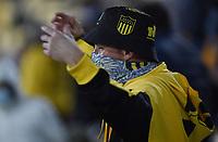 23rd September 2021: Estadio Campeón del Siglo, Banados de Carrasco, Montevideo, Uruguay; Fans of Peñarol, during the game between Peñarol and Athletico, for the semifinal of the Sulamericana Cup 2021