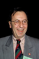 Montreal (QC) CANADA - File Photo - 1996 -<br /> <br /> Andre Boulerice, Parti Quebecois MNA for Sainte-Marie-Saint-Jacques in Montreal.<br /> <br /> <br /> AndrÈ Boulerice (born May 8, 1946 in Joliette, Quebec) is a QuÈbÈcois politician and gay rights activist. He was a member of the National Assembly of Quebec for the riding of Sainte-MarieóSaint-Jacques in Montreal.<br /> <br /> Born in Joliette, he graduated in specialized education from CÈgep du Vieux MontrÈal. He joined the Parti QuÈbÈcois in 1970 and later worked for the Chambly school board.<br /> <br /> He was elected in the Sainte-MarieóSaint-Jacques riding in 1989, formerly under Claude Charron. Boulerice was reelected in 1994, 1998 and 2003. He was also the assistant leader in the government, president of the Quebec division of the AssemblÈe parlementaire de la Francophonie and Quebec immigration minister. He helped introduce civil union for same-sex couples. Boulerice resigned in September 2005.