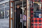 Milano 8 aprile 2019 Gianni Berengo Gardin prende il tram n. 10 alla fermata di viale Coni Zugna di fronte al parco Solari