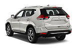 Car pictures of rear three quarter view of 2017 Nissan Rogue SL-Hybrid 5 Door SUV Angular Rear