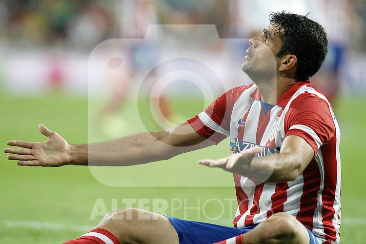Atletico de Madrid's Diego Costa during La Liga match.September 28,2013. (ALTERPHOTOS/Acero)