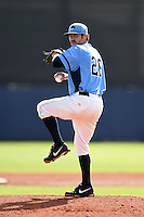 Charlotte Stone Crabs starting pitcher Austin Pruitt (26) delivers a pitch during a game against the Fort Myers Miracle on June 24, 2014 at Charlotte Sports Park in Port Charlotte, Florida.  Fort Myers defeated Charlotte 7-6.  (Mike Janes/Four Seam Images)
