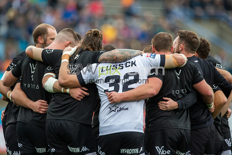 Picture by Kevin Sousa/SWpix.com - 07/10/2018 - Rugby League - Betfred Super League - The Qualifiers - Million Pound Game - Toronto Wolfpack v London Broncos - Lamport Stadium, Toronto, Canada - Toronto Wolfpack huddle.