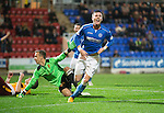 St Johnstone v Motherwell....31.10.14   SPFL<br /> Michael O'Halloran celebrates his second goal<br /> Picture by Graeme Hart.<br /> Copyright Perthshire Picture Agency<br /> Tel: 01738 623350  Mobile: 07990 594431
