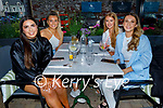 Enjoying the evening in the Ashe Hotel on Saturday, l to r: Ava McCarthy, Maeve Buckley, Elenor Fealy and Emma Ryan.