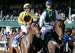 LEXINGTON, KY - OCTOBER 07:  #4 Dancing Rags and jockey Angel Cruz win the 65th running of the Darley Alcibiades (Grade 1) $400,000 win and you're in Breeder's Cup Juvenile Fillies Division for owner Chadds Ford Stable and trainer Graham Motion.  October 7, 2016, Lexington, Kentucky. (Photo by Candice Chavez/Eclipse Sportswire/Getty Images)