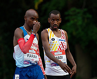 5th June 2021; Birmingham University Athletics Track, Birmingham, Midlands, England; European 10000 Metre Finals, British Olympic Trials 10000 Metre; Bashir Abdi, team mate of Mo Farah before the race