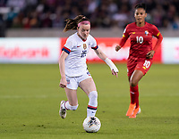HOUSTON, TX - JANUARY 31: Rose Lavelle #16 of the United States dribbles during a game between Panama and USWNT at BBVA Stadium on January 31, 2020 in Houston, Texas.
