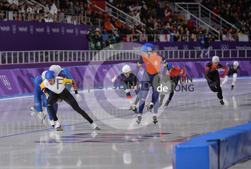 OLYMPIC GAMES: PYEONGCHANG: 24-02-2018, Gangneung Oval, Long Track, Mass Start Men, Bart Swings (BEL), Sven Kramer (NED), ©photo Martin de Jong