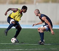 Joseph Gyau and Jared Watts training. 2009 CONCACAF Under-17 Championship From April 21-May 2 in Tijuana, Mexico