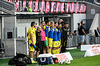 15th March 2021; Bankwest Stadium, Parramatta, New South Wales, Australia; A League Football, Western Sydney Wanderers versus Wellington Phoenix; Players observe a minutes silence in honour of  the victims of the Christchurch Mosque shooting