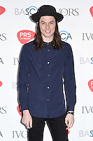 James Bay<br /> arrives for the 2016 Ivor Novello Awards at the Grosvenor House Hotel, London.<br /> <br /> <br /> ©Ash Knotek  D3121  19/05/2016