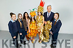 St Joseph's Secondary School students display their Junk Kature creations that won at the Munster Junk Kature and are now going forward to National finals. <br /> L to r: Shianne Meaney, Sinead Kirby, Aine Donovan (Teacher), Jade Meaney, Katie McAuliffe, John O'Donovan (Principal)and Eabha Bryant