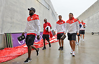 Orlando, FL - Friday Oct. 06, 2017: Jozy Altidore, DaMarcus Beasley, Chris Wondolowski, Nick Rimando during a 2018 FIFA World Cup Qualifier between the men's national teams of the United States (USA) and Panama (PAN) at Orlando City Stadium.