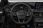 Car pictures of steering wheel view of a 2019 Ford Focus-Clipper  ST-Line 5 Door Wagon
