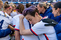 HARRISON, NJ - MARCH 08: Megan Rapinoe #15 of the United States in the huddle during a game between Spain and USWNT at Red Bull Arena on March 08, 2020 in Harrison, New Jersey.