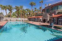 Death Valley, California.  Furnace Creek Resort Pool.