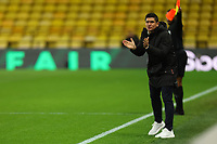 26th December 2020; Vicarage Road, Watford, Hertfordshire, England; English Football League Championship Football, Watford versus Norwich City; Newly appointed  Watford Manager Xisco