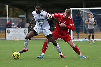 Anointed Chukwu of Romford and Harry Gibbs of Aveley during Romford vs Aveley, Pitching In Ishmian League North Division Football at Mayesbrook Park on 26th September 2020