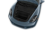 Car stock 2017 Porsche 718 Cayman S 3 Door Coupe engine high angle detail view