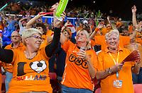 The Hague, The Netherlands, September 17, 2017,  Sportcampus , Davis Cup Netherlands - Chech Republic, Fifth match : Dutch Fans having a ball<br /> Photo: Tennisimages/Henk Koster