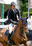 Portugal's jockey Luis Felipe Costa with the horse Princeska dela Brosse during 102 International Show Jumping Horse Riding, King's College Trophy. May, 20, 2012. (ALTERPHOTOS/Acero)