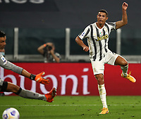 Calcio, Serie A: Juventus - Sampdoria, Turin, Allianz Stadium, September 20, 2020.<br /> Juventus' Juventus' Cristiano Ronaldo scores in spite of Sampdoria's goalkeeper Emil Audero during the Italian Serie A football match between Juventus and Sampdoria at the Allianz stadium in Turin, September 20,, 2020.<br /> UPDATE IMAGES PRESS/Isabella Bonotto