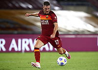Football, Serie A: AS Roma - Juventus, Olympic stadium, Rome, September 27, 2020. <br /> Roma's Jordan Veretout  scores his second goal in the matchduring the Italian Serie A football match between Roma and Juventus at Olympic stadium in Rome, on September 27, 2020. <br /> UPDATE IMAGES PRESS/Isabella Bonotto
