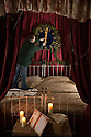 15/11/15<br /> <br /> Ebenezer Scrooge's bed chamber - A Christmas Carol.<br /> <br /> Fifty years after being jilted by her lover and stopping the clocks in Statis House, Miss Haversham, still wearing her wedding dress, stands by her wedding breakfast table in a room themed around Charles Dickens' Great Expectations. <br /> <br /> It is one of seven rooms at Tissington Hall, Derbyshire portraying different scenes from Dickens novels as part of the Hall's 'What The Dickens?' event that will be showing a darker side to Christmas. Tissington Hall set in The Peak District near Ashbourne is said to be haunted. Tours starting next week will allow visitors to search for ghosts and experience the spookier side of Christmas.<br /> <br /> Tissington Hall is one of only a few stately homes still owned and lived in by its original family. In fact the table where Miss Haversham's  wedding breakfast is laid out is where the Fitzherbert family will eat their Christmas Dinner.<br /> <br /> Many of the rooms have never been seen by the public before. Indeed, Scrooge's bedchamber has been unused for a about one hundred years - it was full of junk, including old mattresses before being transformed into one of the Dickens rooms.<br /> <br /> Props used throughout are almost entirely objects found in the house. Bottles of wine, still covered in dust, that were discovered recently in the cellar, add to the eerie look in Miss Haversham's wedding breakfast room. Toys in the children playroom were once played with by young members of the Fitzherbert family, and deeds, and plans on show in Mr Tulkinghorn's law office are all original document and plans found in Tissington Hall's library.<br /> <br /> All Rights Reserved: F Stop Press Ltd. +44(0)1335 418365   www.fstoppress.com.