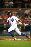 Scottsdale Scorpions Champ Stuart (10), of the New York Mets organization, during a game against the Salt River Rafters on October 12, 2016 at Scottsdale Stadium in Scottsdale, Arizona.  Salt River defeated Scottsdale 6-4.  (Mike Janes/Four Seam Images)