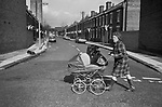 Public Laundry 1970s UK . Women taking their dirty used clothes to a public laundry to get them washed. Reform Street, Battersea south London 1979