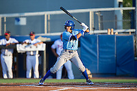 Nicky Lopez (4) of the Burlington Royals at bat against the Danville Braves at American Legion Post 325 Field on August 16, 2016 in Danville, Virginia.  The game was suspended due to a power outage with the Royals leading the Braves 4-1.  (Brian Westerholt/Four Seam Images)