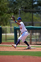 AZL Dodgers Lasorda first baseman Meaux Landry (66) catches a throw during an Arizona League game against the AZL Royals on July 4, 2019 at Camelback Ranch in Glendale, Arizona. The AZL Royals defeated the AZL Dodgers Lasorda 4-1. (Zachary Lucy/Four Seam Images)