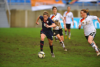 Heather O'Reilly pushes the pace. The USA captured the 2010 Algarve Cup title by defeating Germany 3-2, at Estadio Algarve on March 3, 2010.