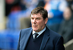 St Johnstone v Motherwell…07.04.18…  McDiarmid Park    SPFL<br />Saints manager Tommy Wright<br />Picture by Graeme Hart. <br />Copyright Perthshire Picture Agency<br />Tel: 01738 623350  Mobile: 07990 594431