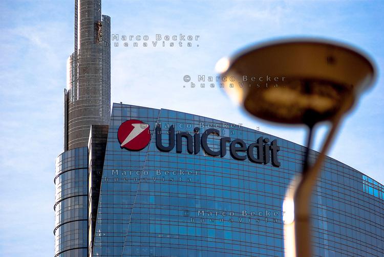 Milano, Torre Pelli, sede di Unicredit --- Milan, Pelli Tower, headquarter of Unicredit